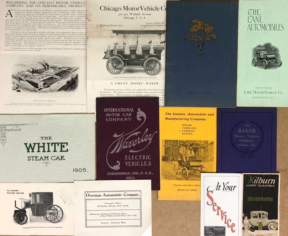 Early steam and electric brochures