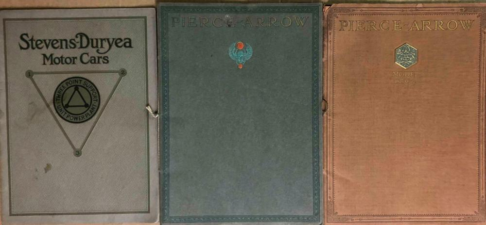 Pierce Arrow and Stevens Duryea catalogs