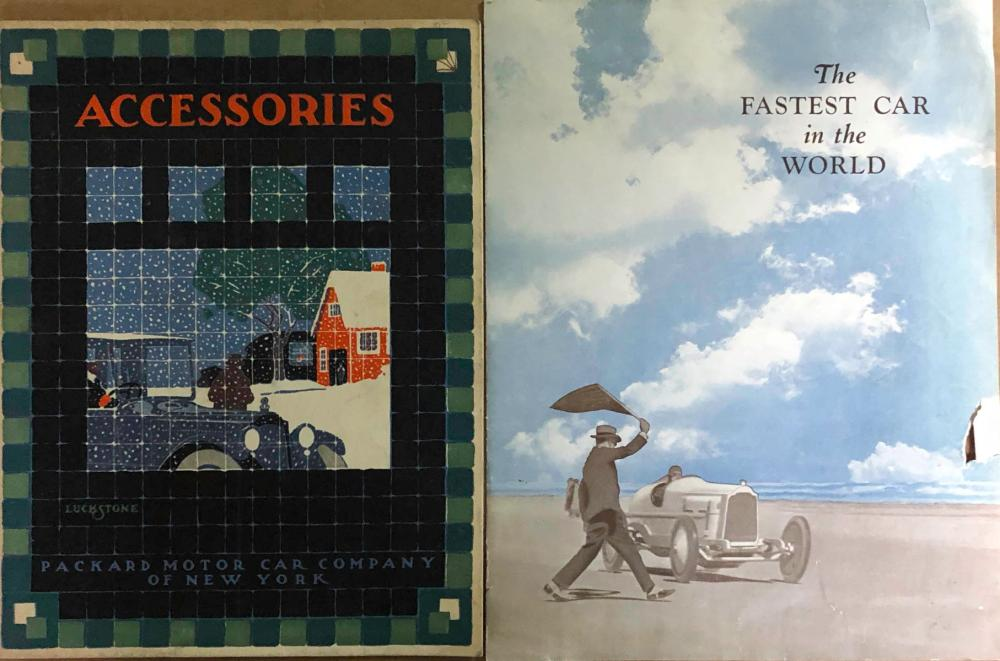 1919-20 Packard Accessories catalog & Fastest Car