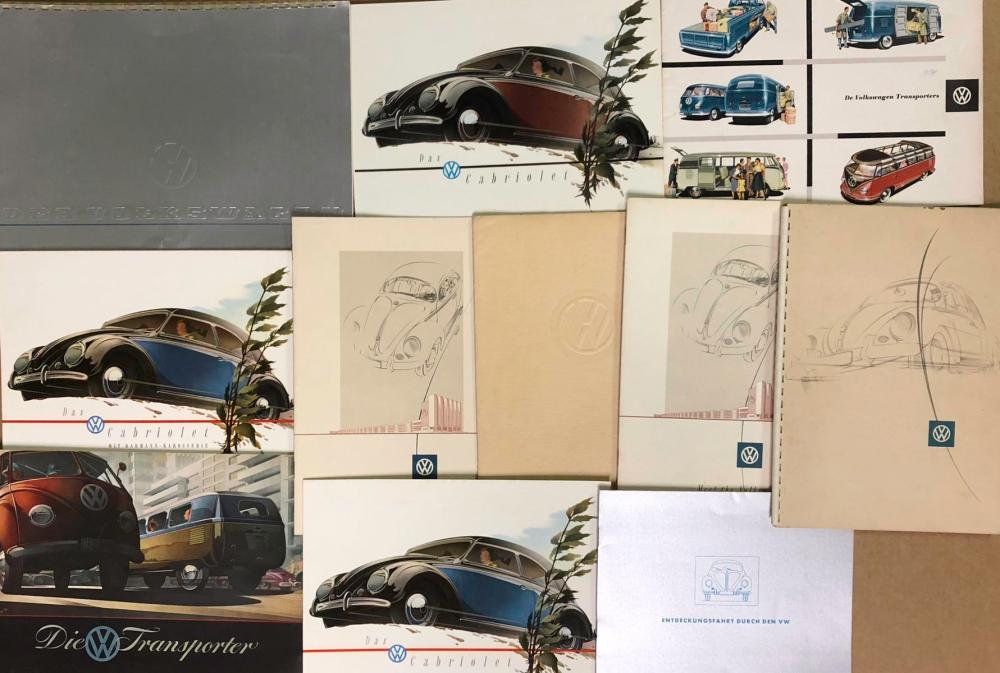 1950's Volkswagen brochures and portfolios