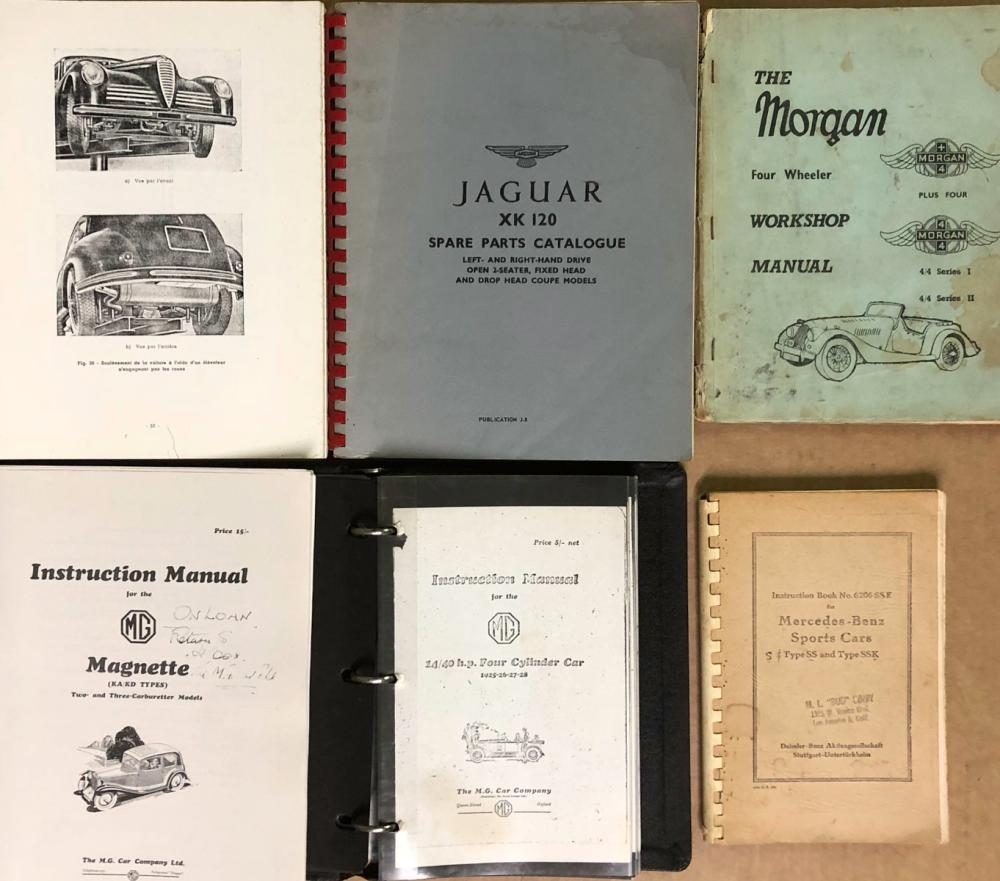 Reproduction instruction and parts manuals