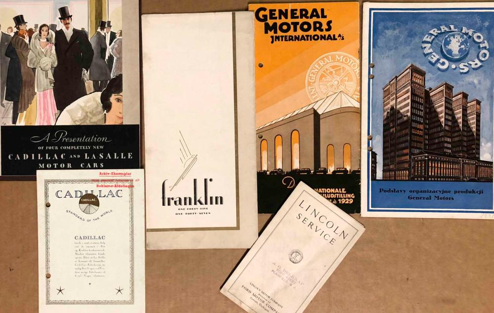 US classic era brochures