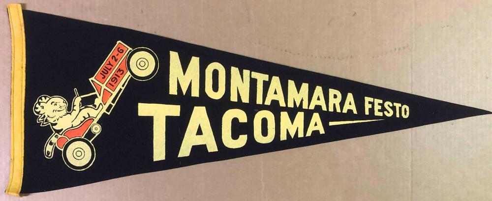 1913 Montamara Festo Tacoma race pennant
