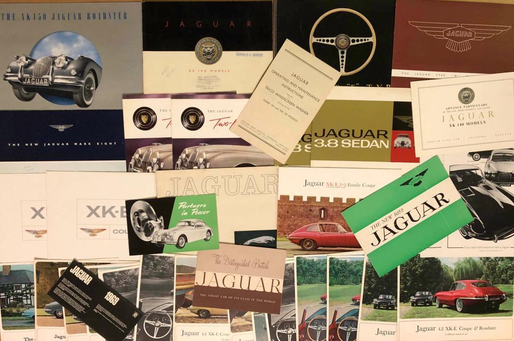 1950's-1960's Jaguar brochures