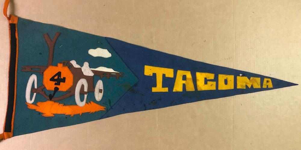 Ca teens Tacoma race pennant, race car image