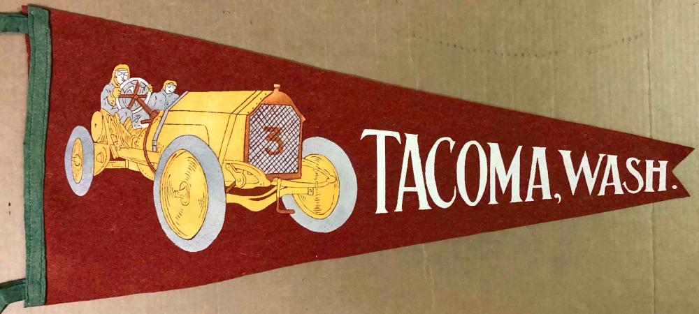 Tacoma race pennant with #3 teens race image