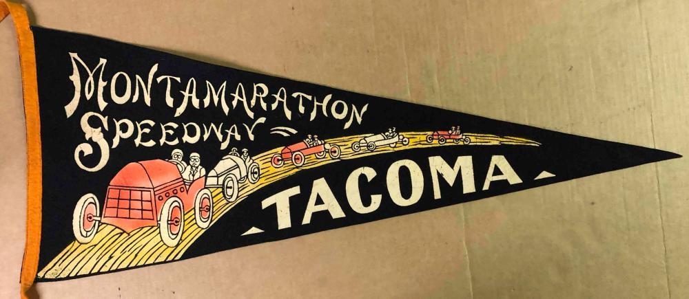 Ca 1912 Montamarathon Speedway pennant
