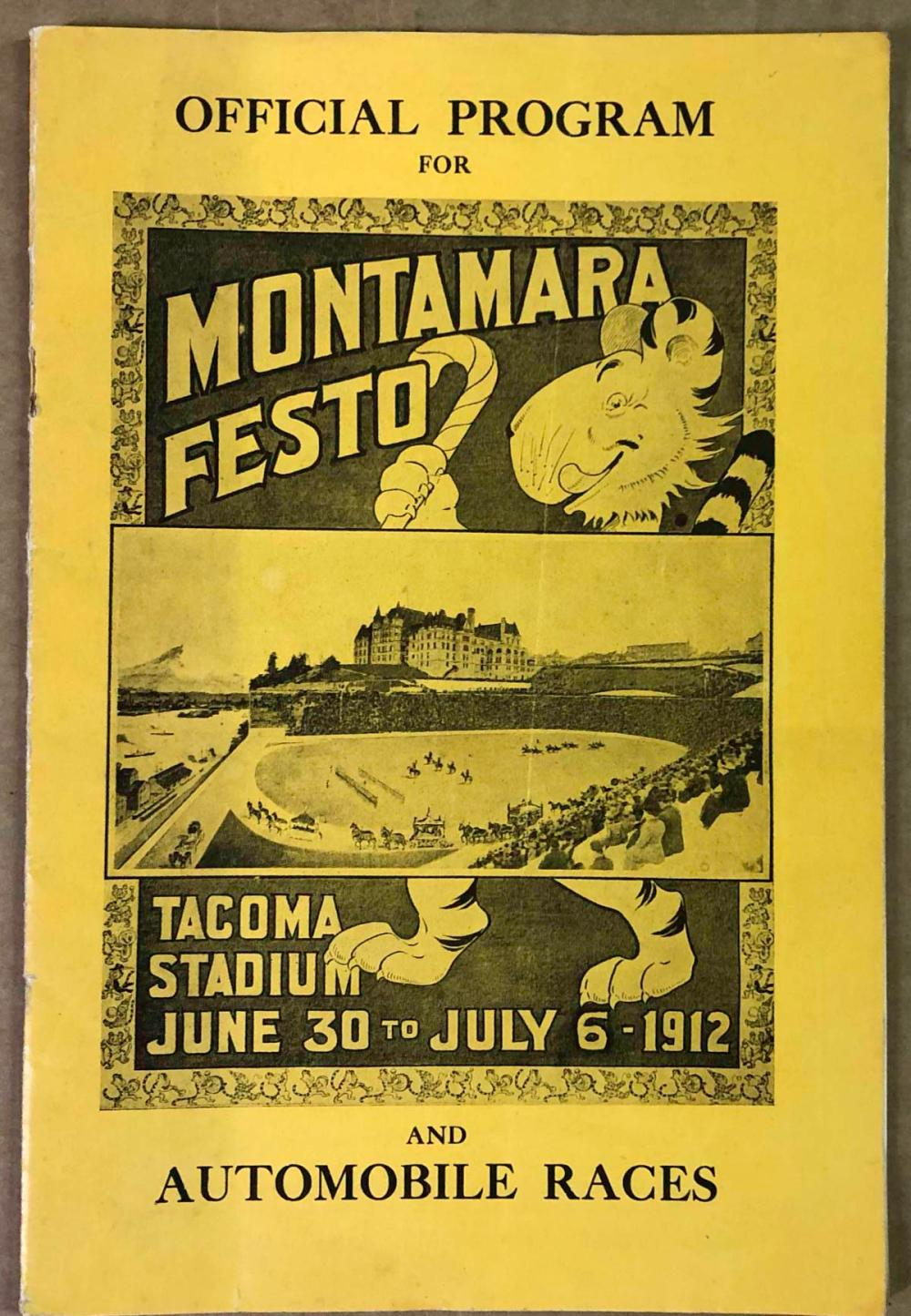 1912 Montamara Festo and Auto races program