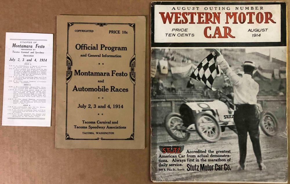1914 Festo and Auto race program, two other items