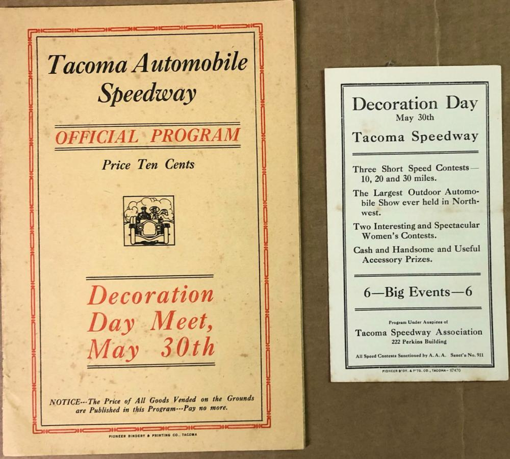 1916 Tacoma Speedway Official Program