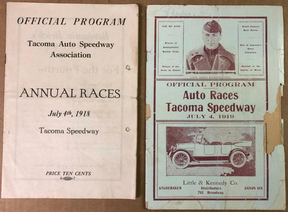 1918 and 1919 Tacoma Race programs