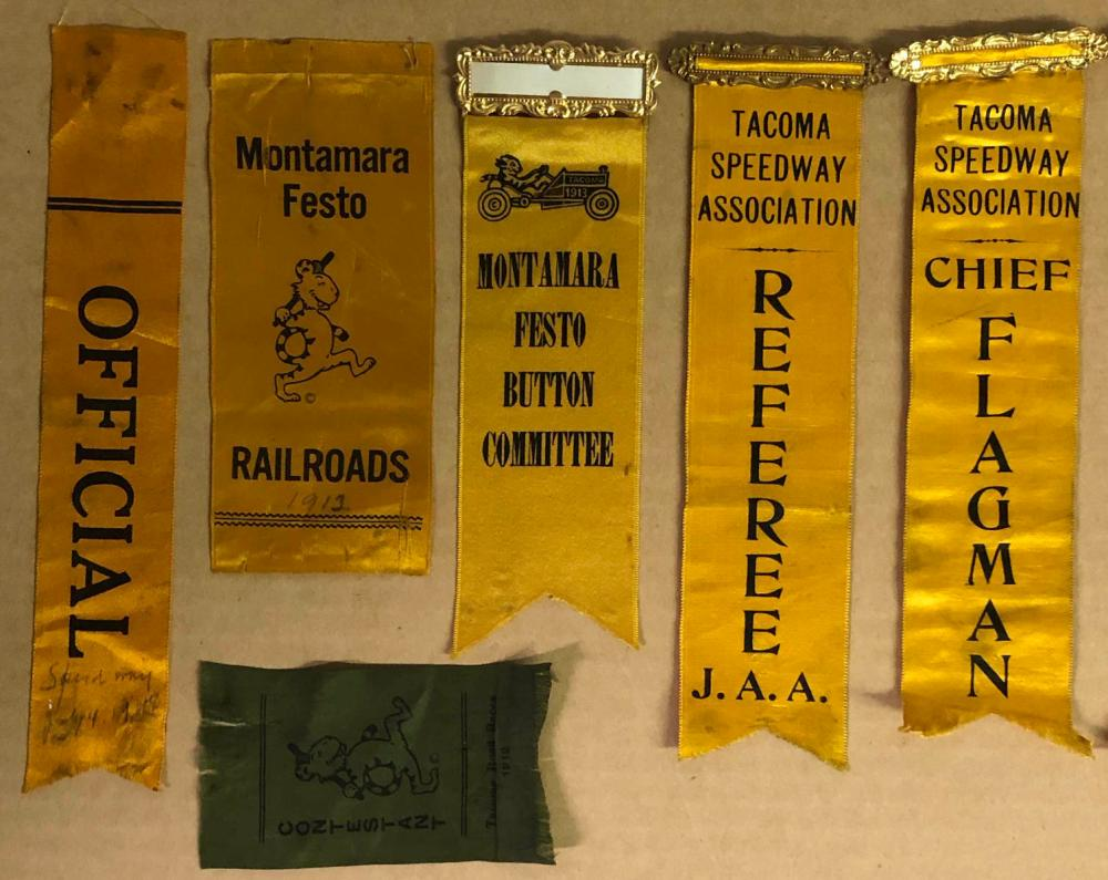 Ten 1912-1917 Tacoma Race related ribbons