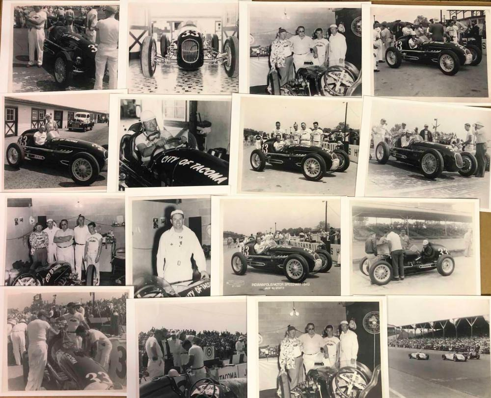 1948 and 1949 AAA race car registrations, photo al