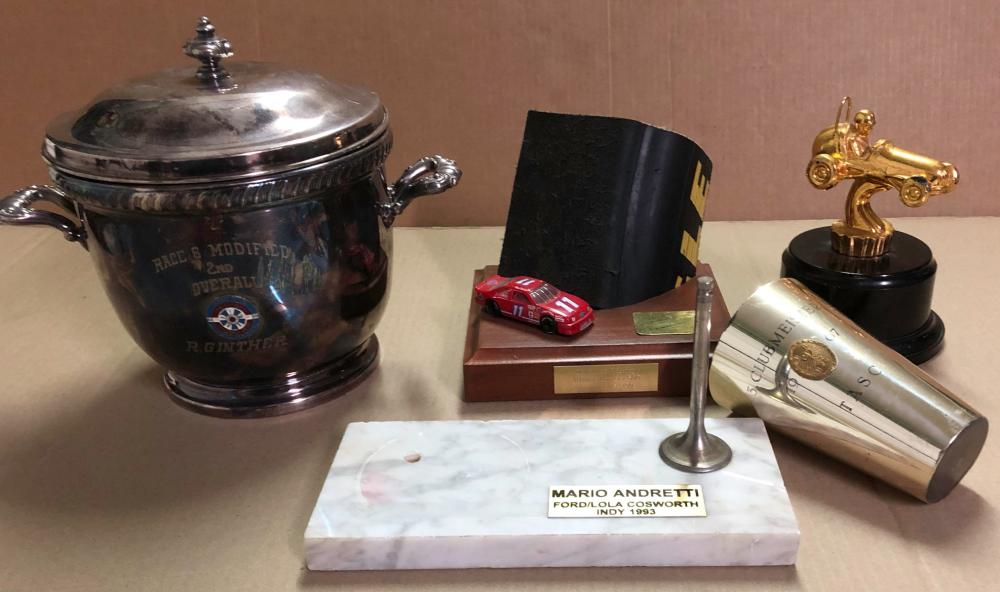 Trophy collection- incl ca 1956 R Ginther, Pomona,