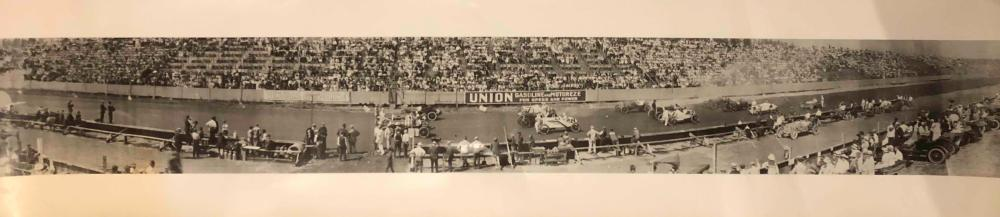 Four panorama race line up photos - 1912 - 26 era