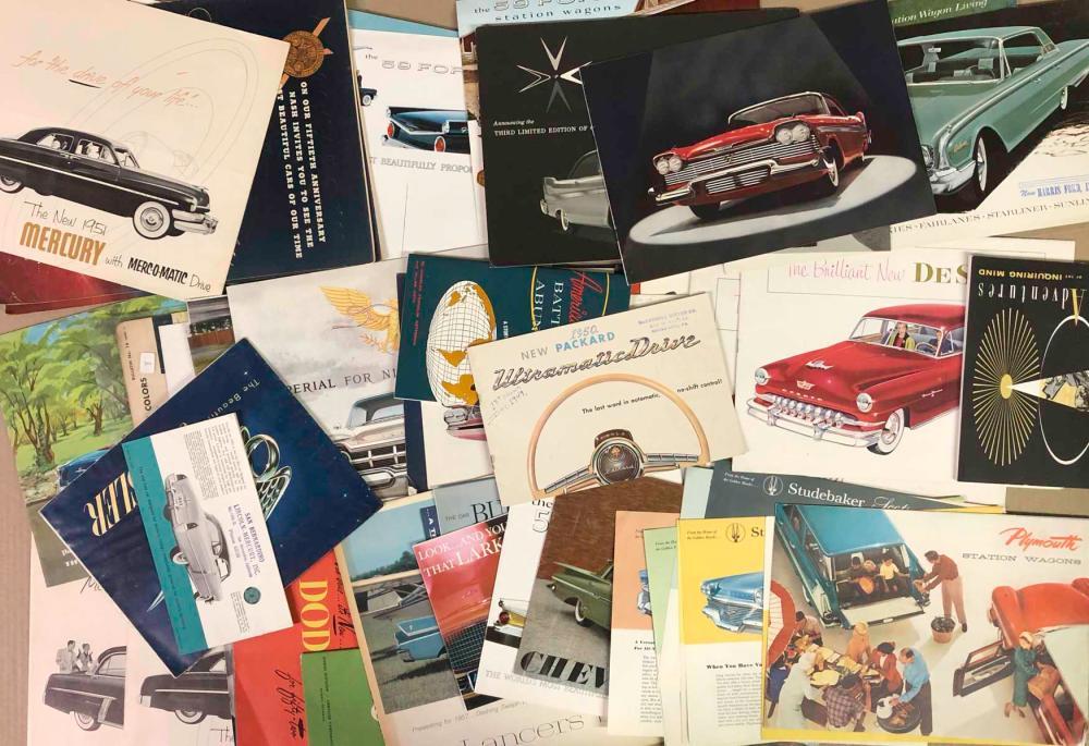 Lot Of Misc 1950s Us Car Brochures