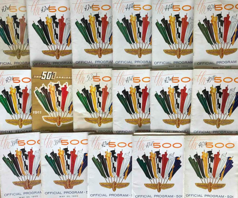 Lot 6: Lot of INDY 500 programs - 1955 to early 1990's