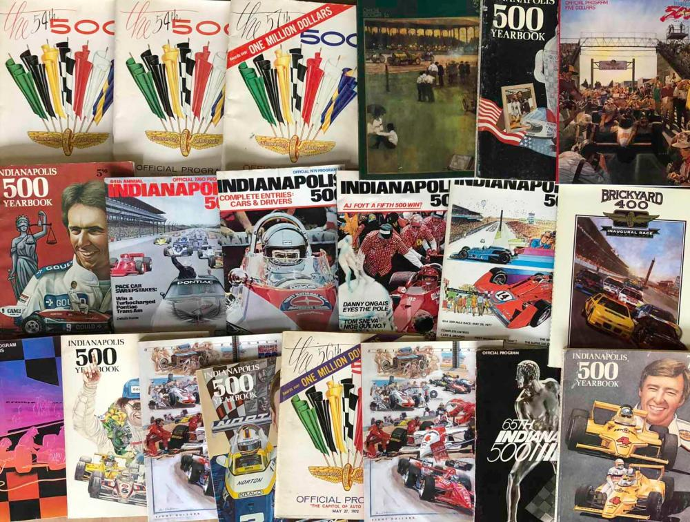 Lot of INDY 500 programs - 1955 to early 1990's
