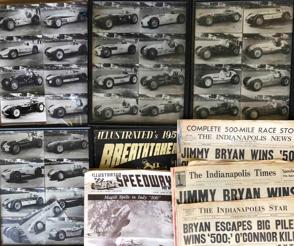 INDY 500 related - post card set, autographed, etc