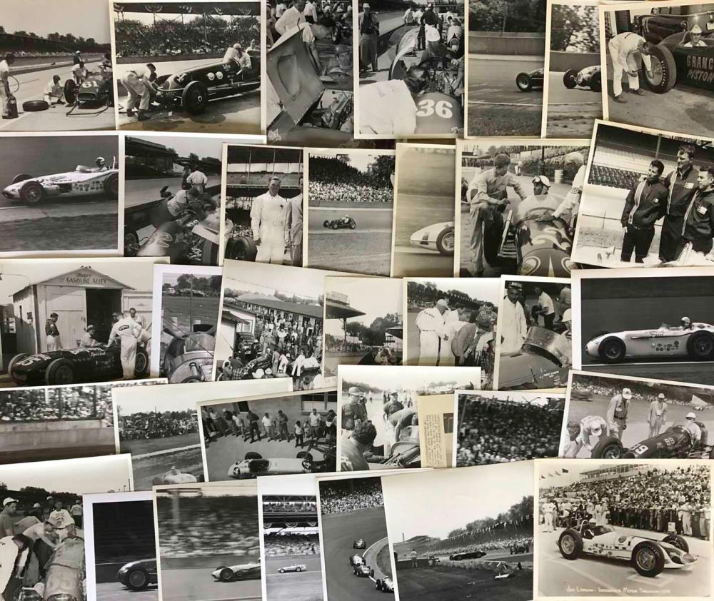 125 INDY 500 8 x 10 photos - 1940's-1960's