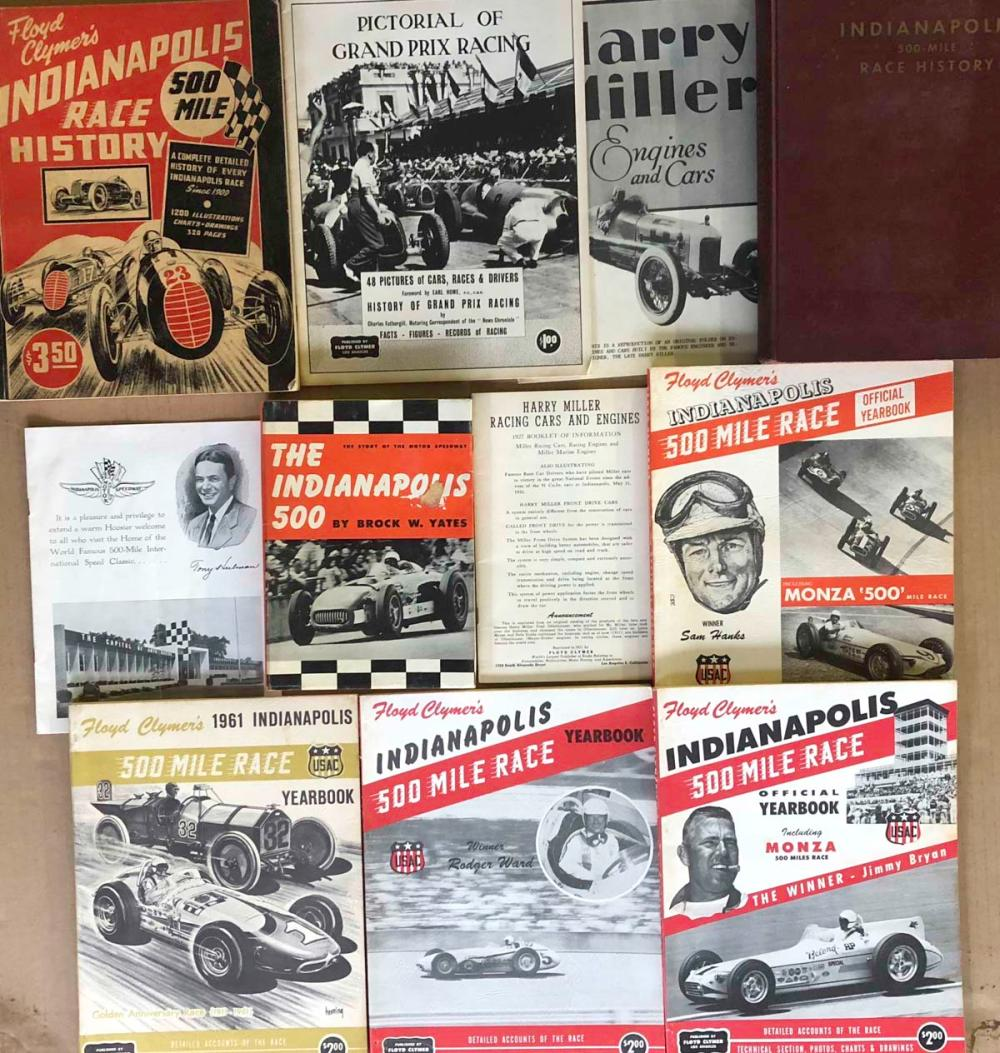 INDY 500 yearbooks from 1946 - 1961
