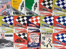 Lot 17: 67 1950's race programs, most are East Coast