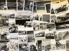 Lot 18: 150 teens -1950's midget, sprint 8 x 10 photos