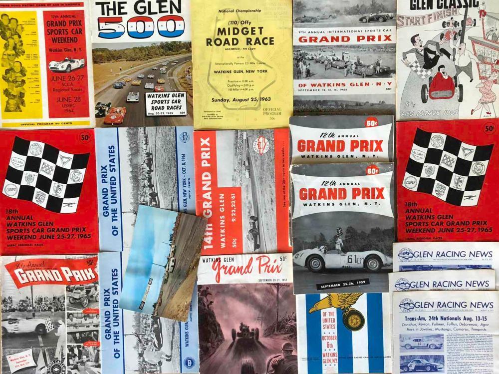 15 Watkins Glen programs, 1950's-60's