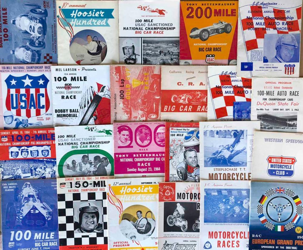 Lot 22: 50 race programs, 1960's - most are East Coast