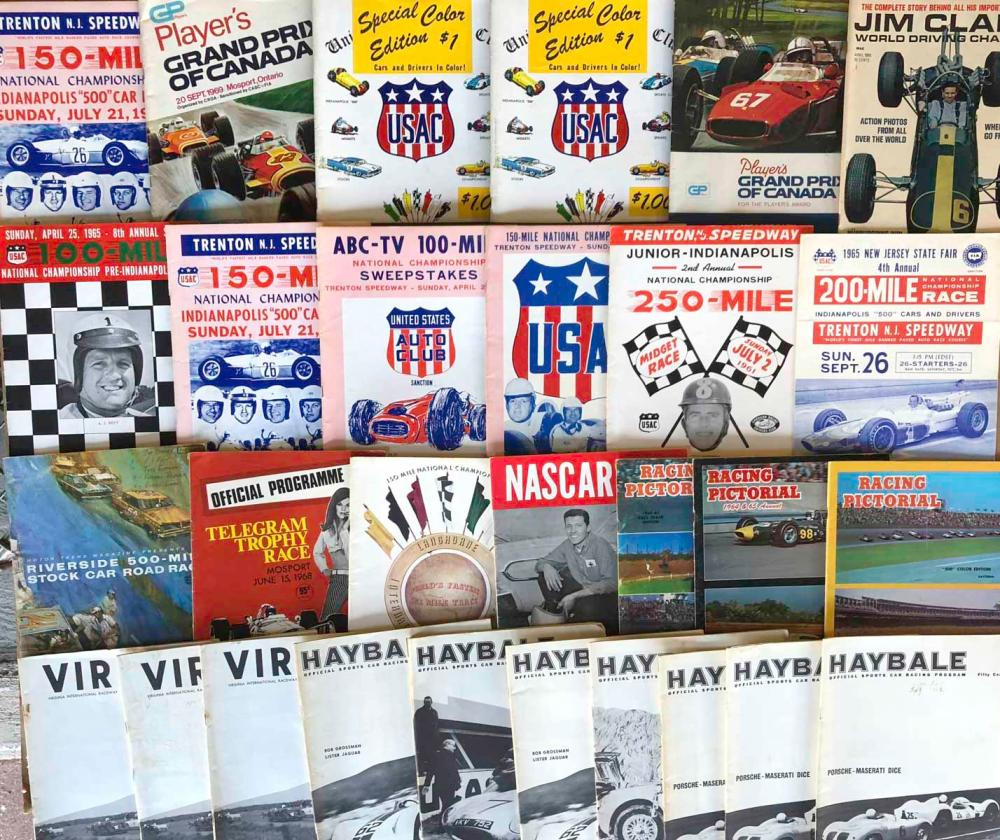 50 race programs, 1960's - most are East Coast