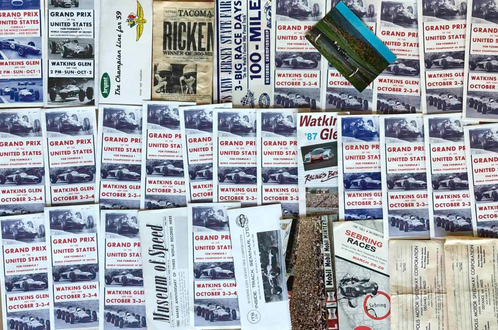 Race tickets and small brochures, 1950's-60's