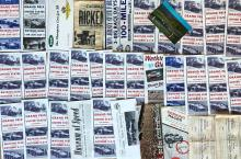 Lot 24: Race tickets and small brochures, 1950's-60's