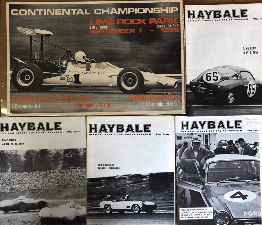 Original 1969 Lime Rock poster, 4 Hay Bales