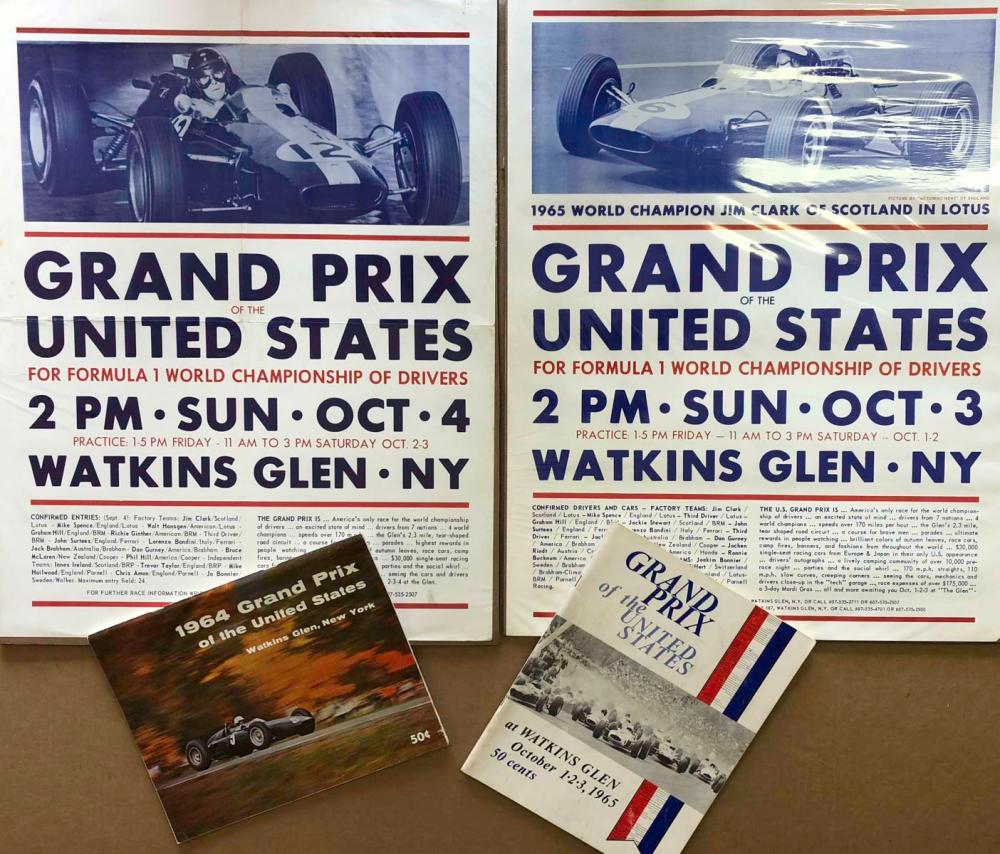 Original 1964 &1965 Watkins Glen posters programs