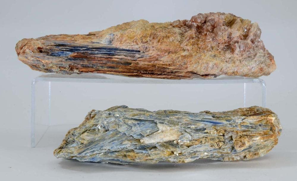TWO LARGE KYANITE SPECIMENS