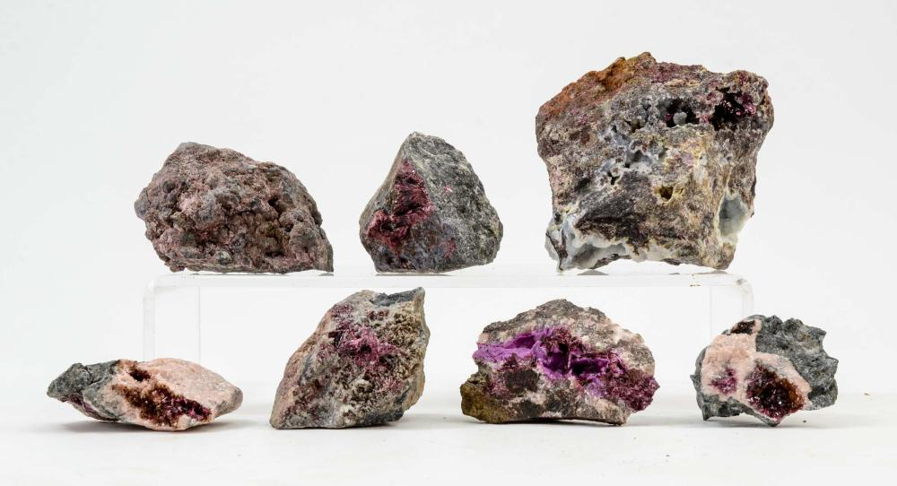 7 PCS ERYTHRITE AND ROSELITE