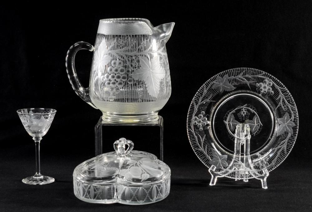 Excellent Meriden Cut Glass Group