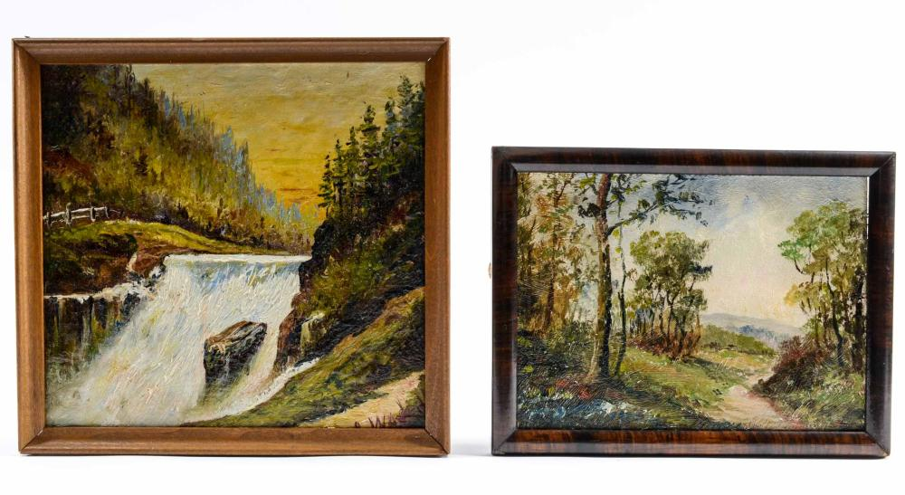 Two Arthur Watts Landscape Paintings