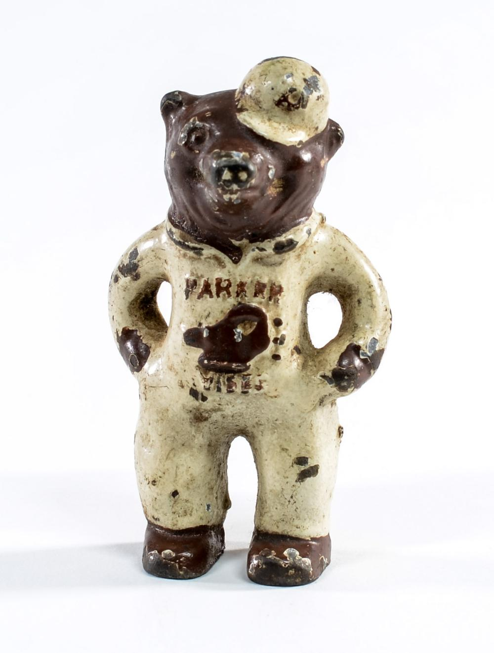 Charles Parker Advertising Bear Paperweight