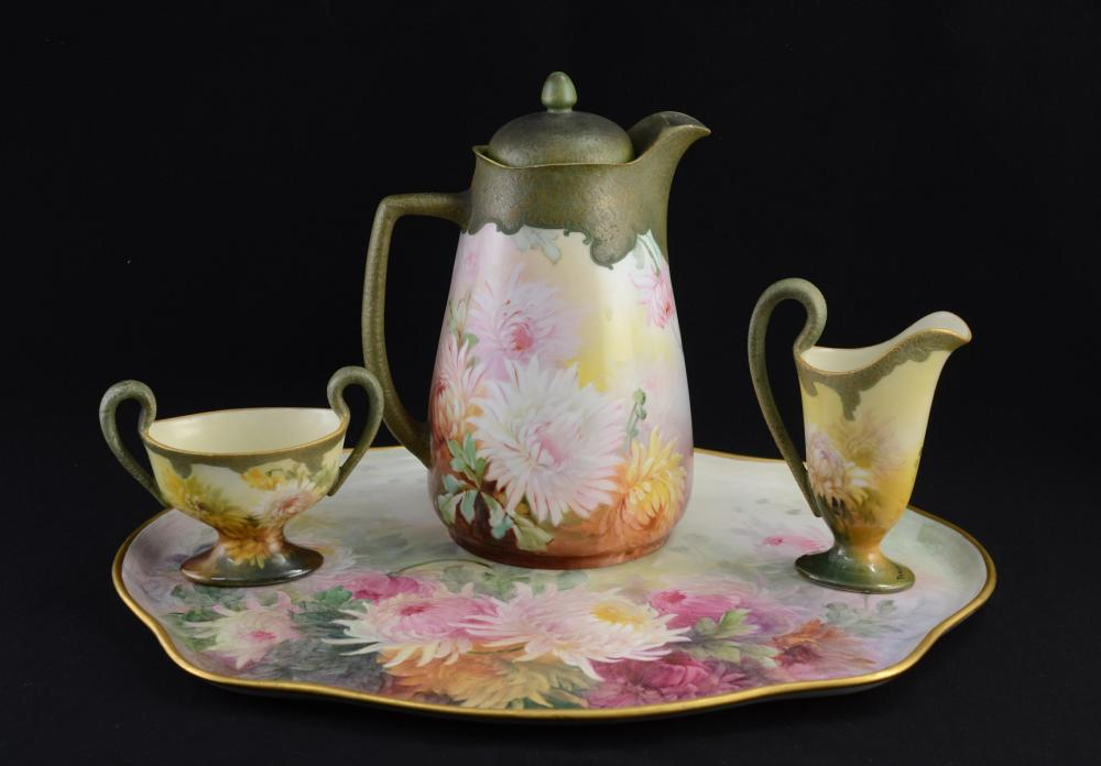 Exceptional and Rare Handel Ware Tea Service