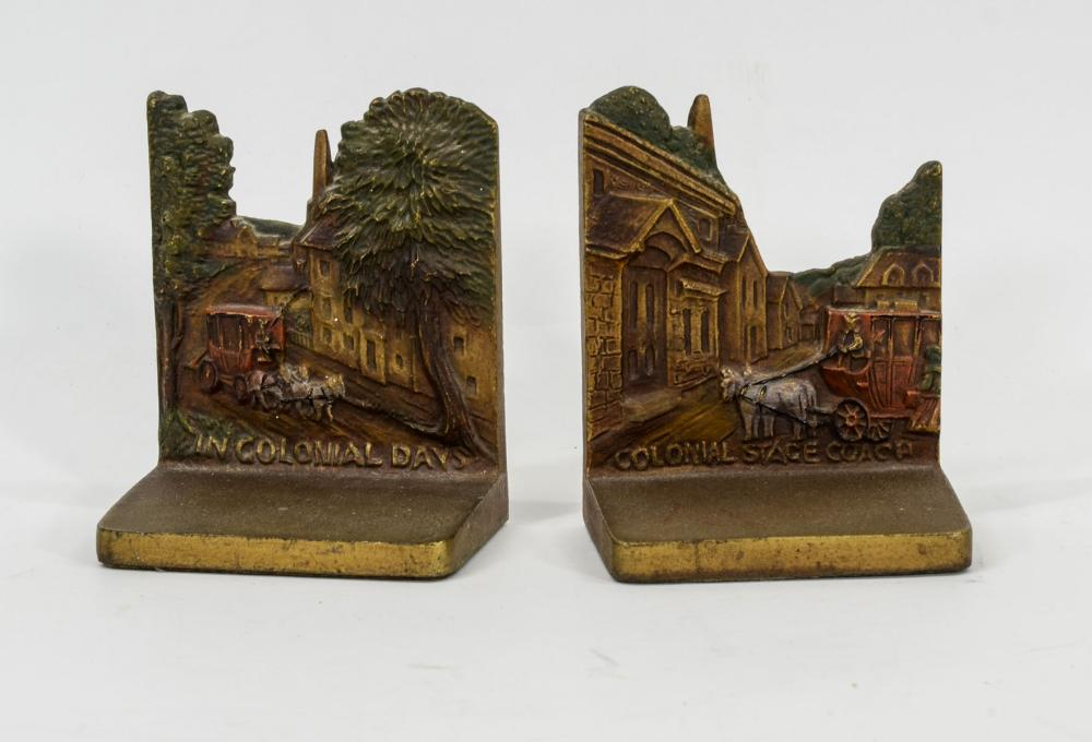 Pair Bradley & Hubbard Cast Iron Bookends