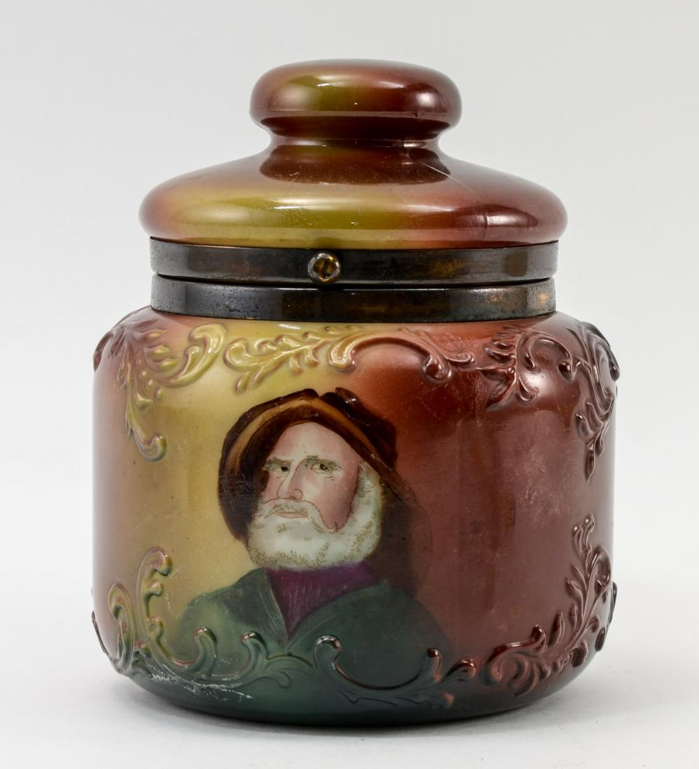 Handel Ware Glass Humidor w/ Sea Captain