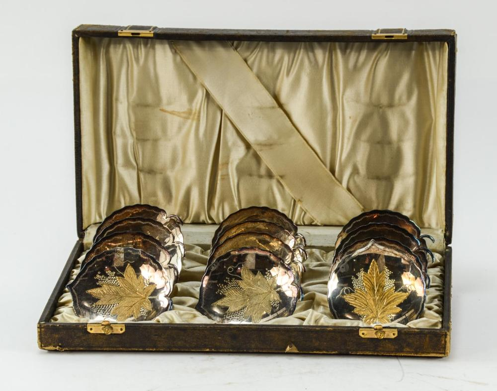 Cased Wilcox Victorian Silverplate Set