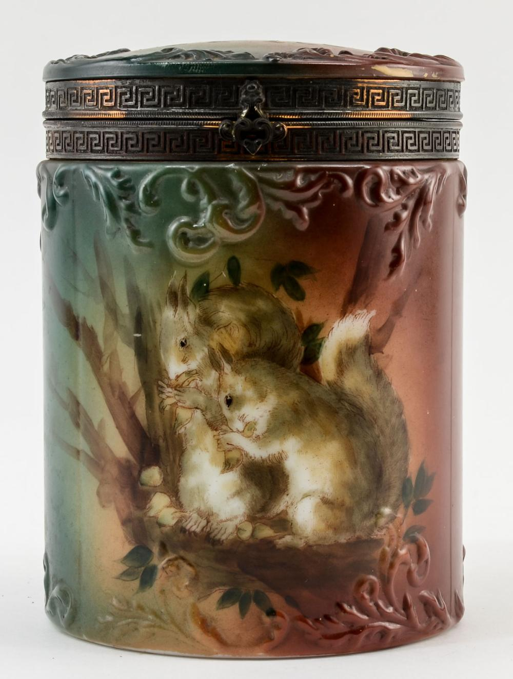 Handel Ware Glass Cigar Humidor w/ Squirrels