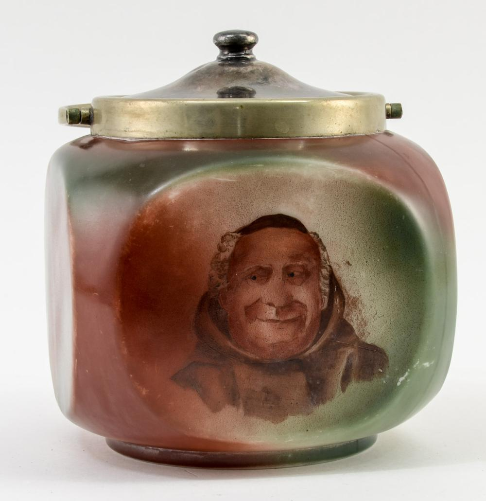 Handel Ware Glass Jar w/ Monk