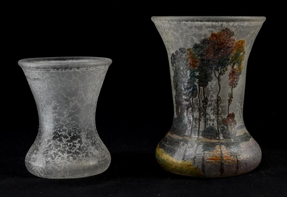 Two Handel Teroma Glass Vases