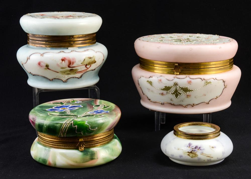 Four Belle Ware Dresser Boxes