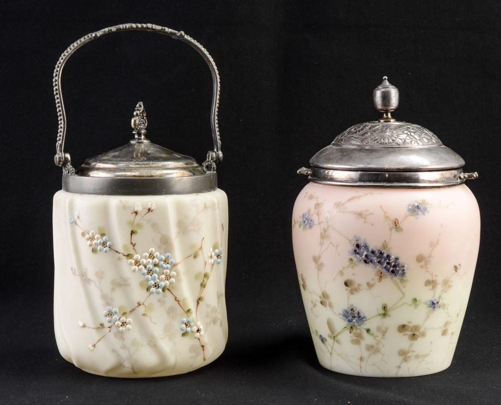 Two Wavecrest Biscuit Jars