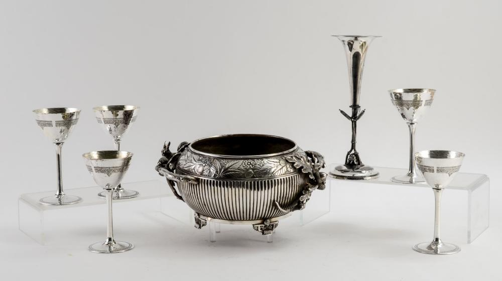 Group of Meriden Made Silver Plate