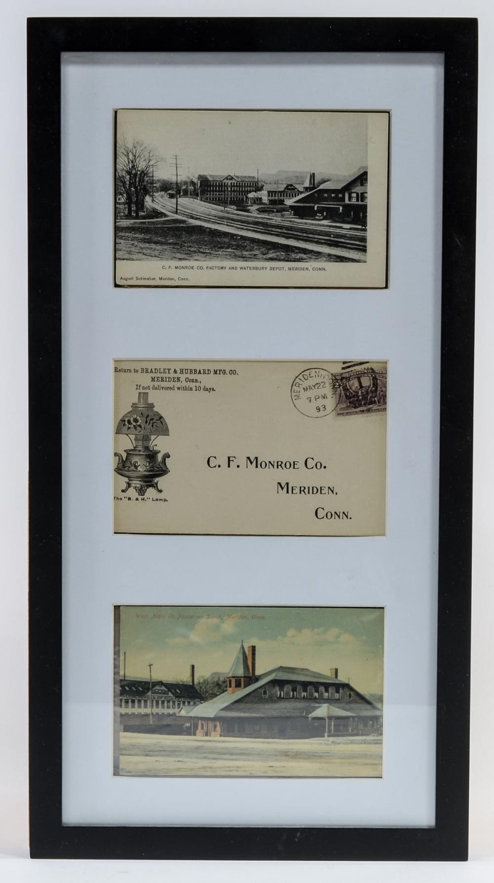Meriden CT Framed Postcards